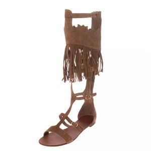 ASH Suede Fringe Gladiator Sandals BNIB NWT